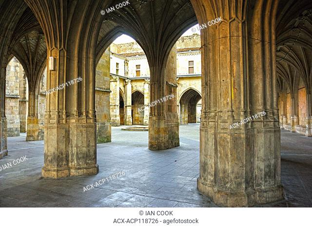 cloisters at Saint Pierre Cathedral, Condom, Gers Department,Aquitaine, France