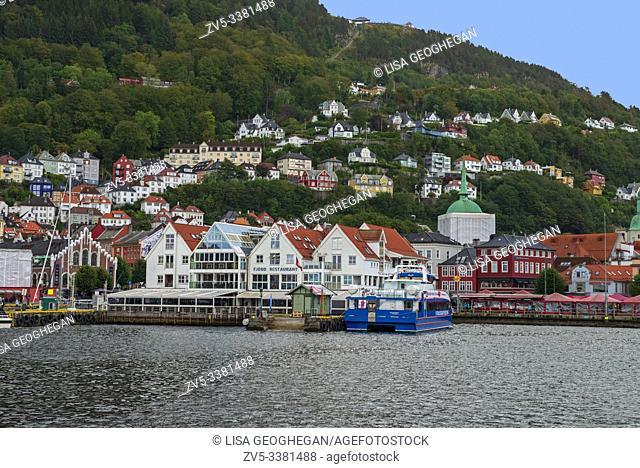 A view of Bergen Harbour, Norway