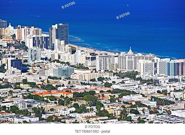 Florida coastline and cityscape