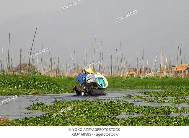 Water canals, Inle lake, Myanmar