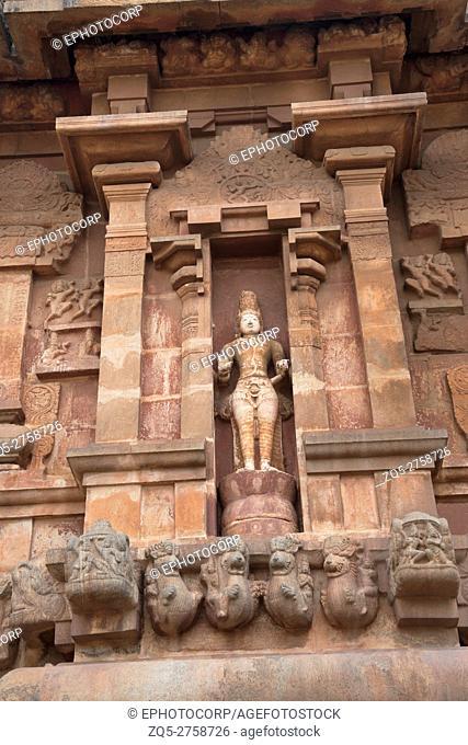 Chandrasekhara Siva, western niche, Brihadisvara Temple, Tanjore, Tamil Nadu, India