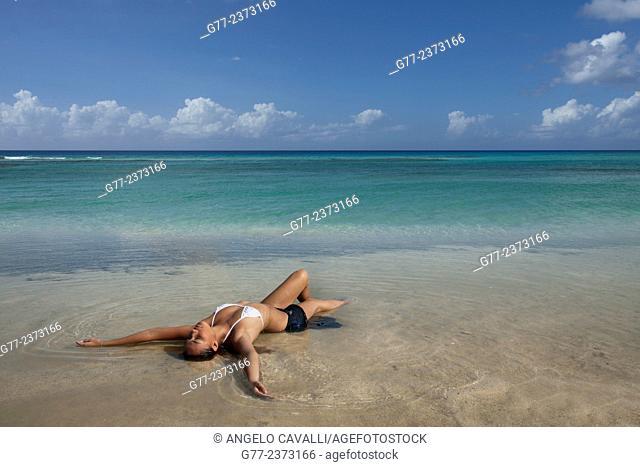 Woman on the beach, Phuket, Thailand