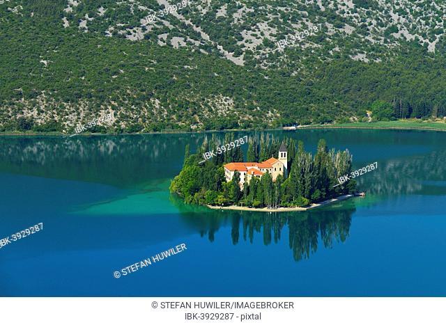 Roman Catholic Franciscan monastery Visovac, Krka National Park, Sibenik-Knin, Dalmatia, Croatia