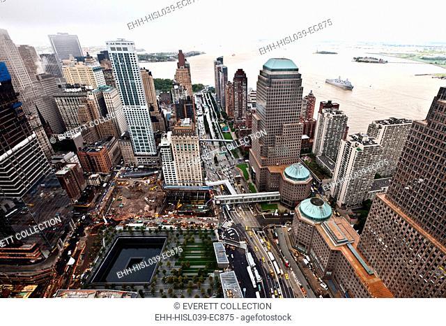 World Trade Center Ground Zero site under reconstruction Sept. 8, 2011. Three days before the 10th anniversary of 9-11 Terrorist Attacks