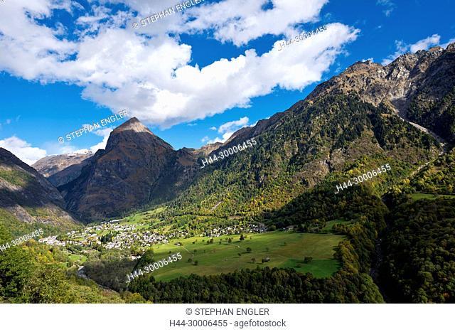 Switzerland, Ticino Tessin, Val du Blenio Olivone