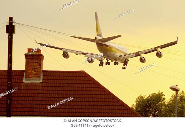 Suburbia near Heathrow airport. West London. London. England. UK