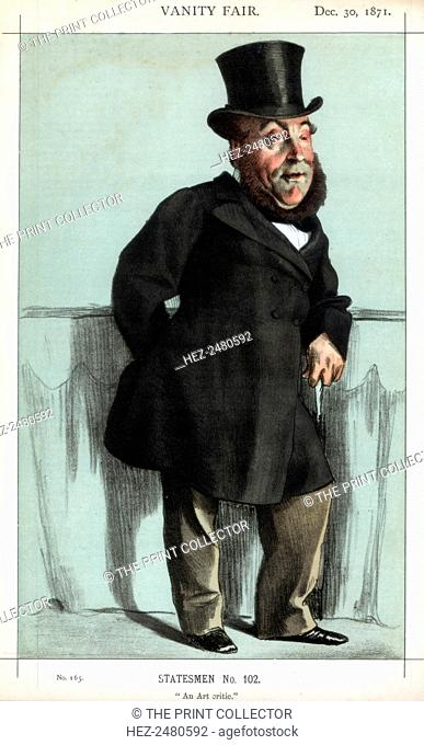 'An art critic', 1871. A caricature of William Henry Gregory (1817-1892), Anglo-Irish writer and Conservative politician
