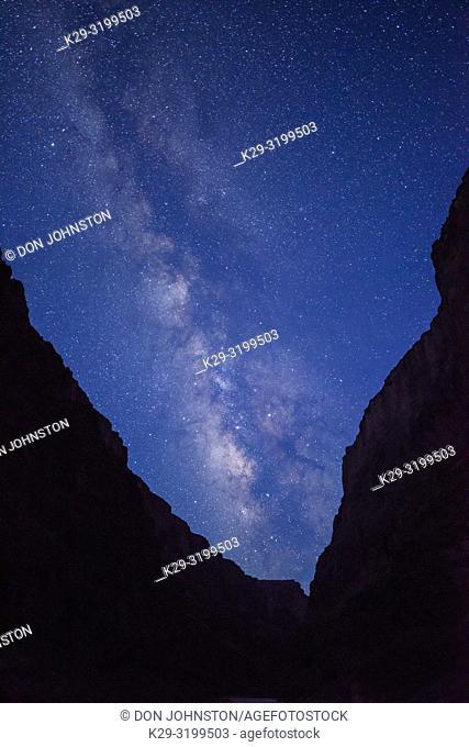 Night sky over the Grand Canyon at Olo Dune (mile 146), Grand Canyon National Park, Arizona, USA