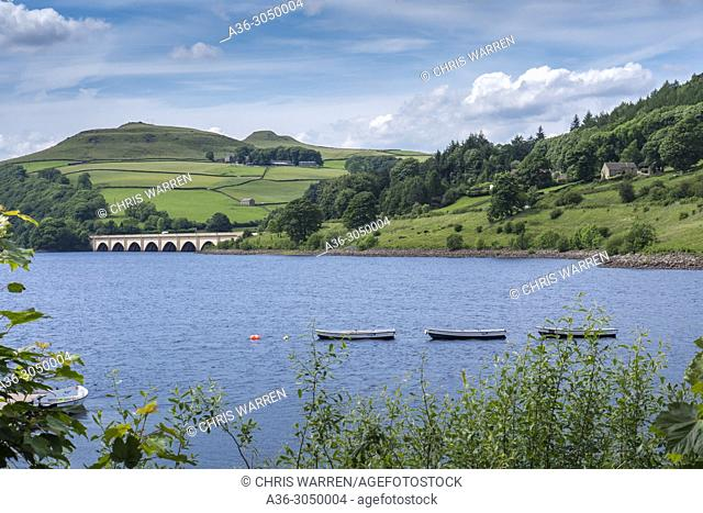 Lady Bower Reservoir Hope Valley Bamford Upper Derwent Vally Derbyshire England