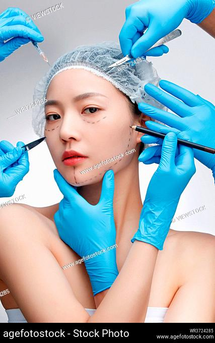 Young women have plastic surgery