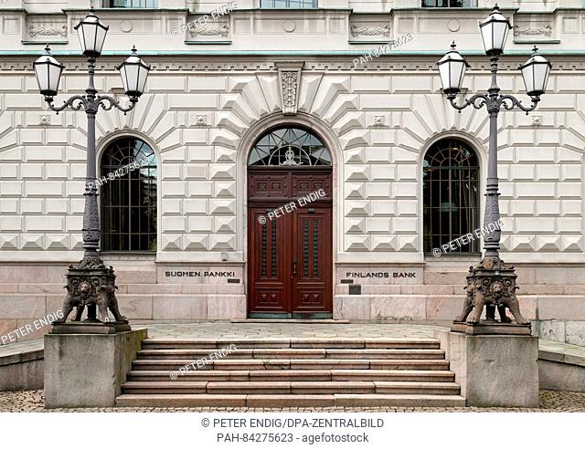 Suomen Pankki, the Bank of Finland in Helsinki, Finland 06 August 2016. The Bank of Finland is a member of the European System of Central Banks and is...