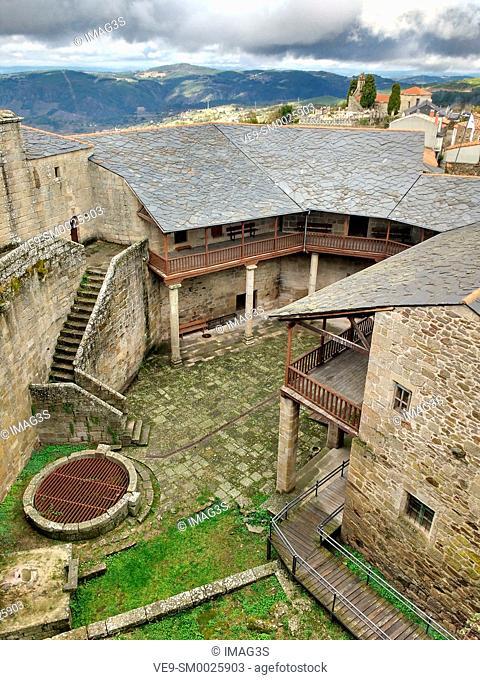 Castro Caldelas Castle, Ribeira Sacra, Ourense, Galicia, Spain