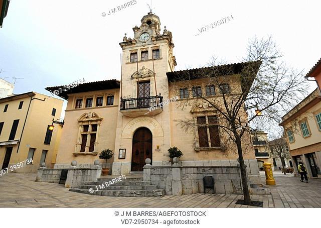 Alcudia, City hall. Majorca, Balearic Islands, Spain