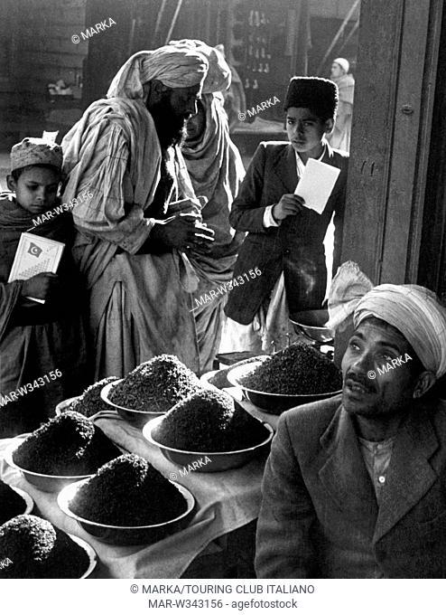 pakistan, venditore ambulante di te, 1955