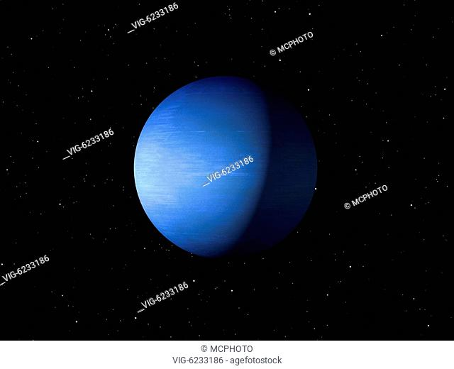 3d rendering of the planet Neptune done with NASA textures - 01/01/2018