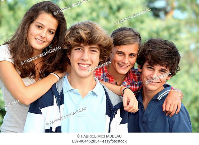 Teenagers portrait