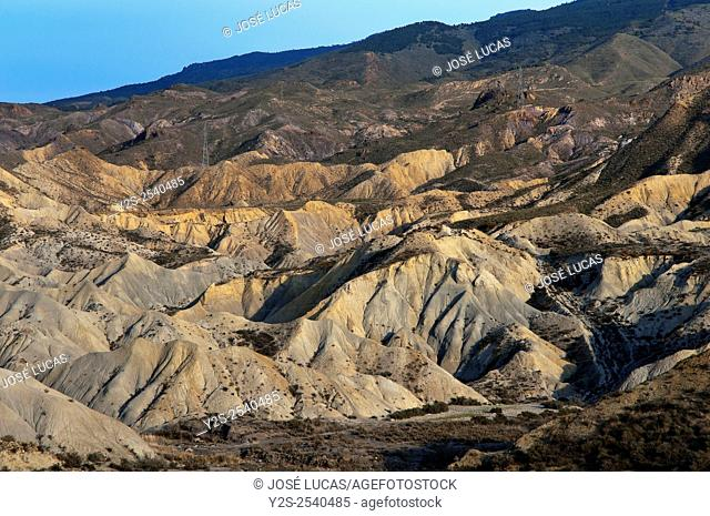 Tabernas Desert Natural Park, Almeria province, Region of Andalusia, Spain, Europe