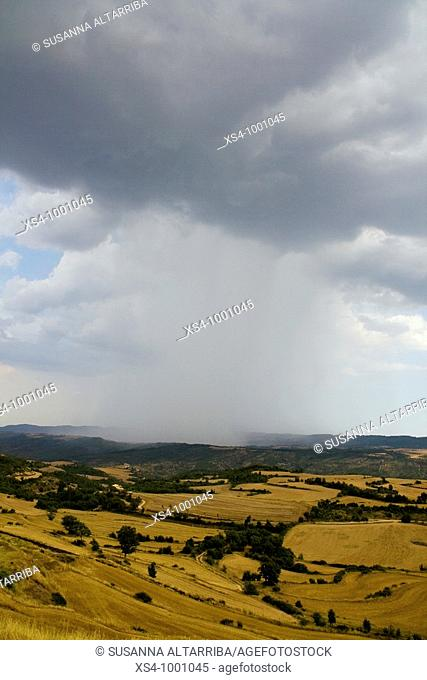 Summer Storm in the valley.Solsona, Lleida, Catalonia, Spain.August 2009