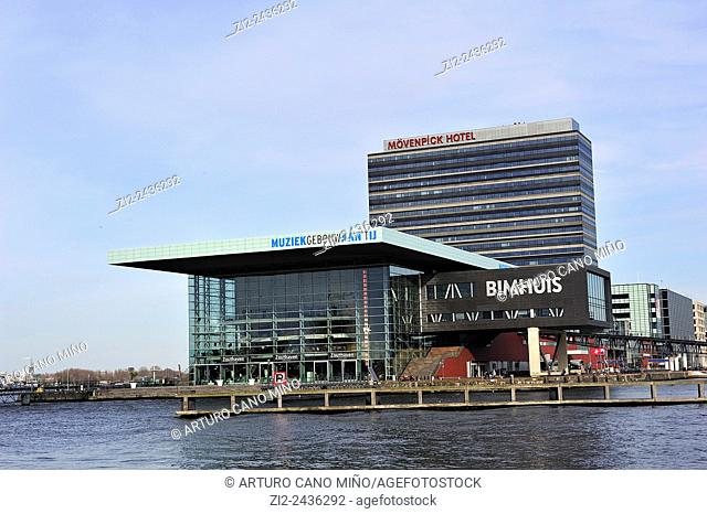 The port, Contemporary buildings. Amsterdam, Netherlands