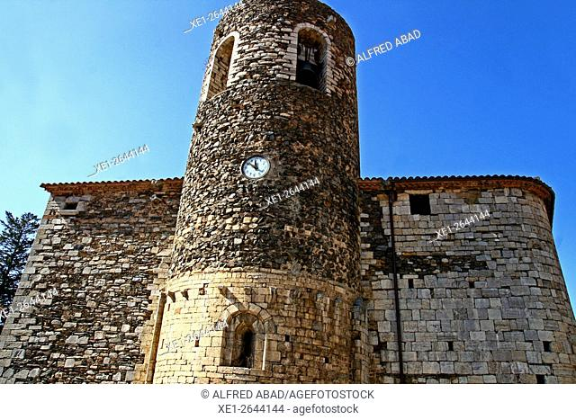 Church of Sant Esteve, Pardines, Ripolles, Catalonia, Spain
