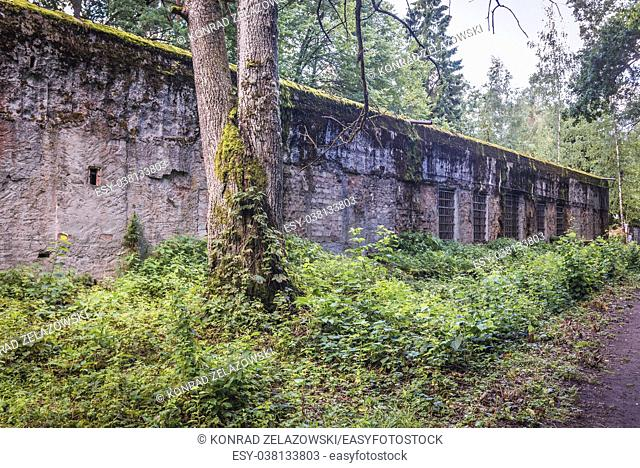 Building of General Alfred Jodl in Wolf's Lair - headquarters of Adolf Hitler and Nazi Supreme Command of Armed Forces in WW2 near Gierloz, Poland