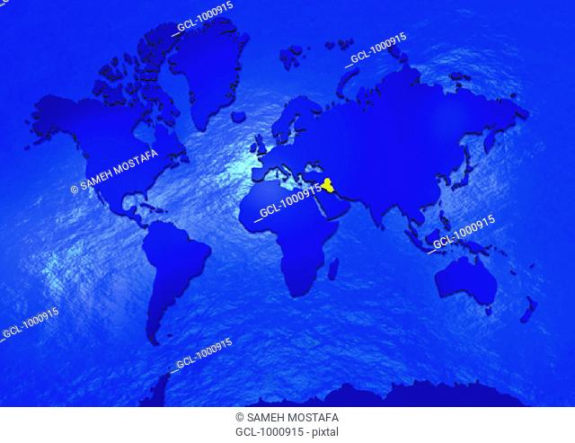 Iraq on world map