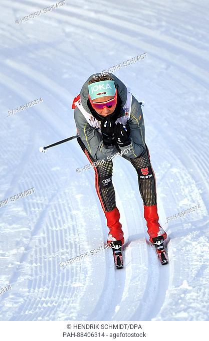 German athlete Stefanie Böhler in action at the FISNordic World Ski Championships 2017 in Lahti, Finland, 24 February 2017