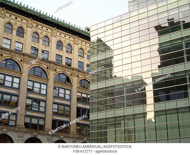 Houston St. and Broadway, SoHo, New York City, USA