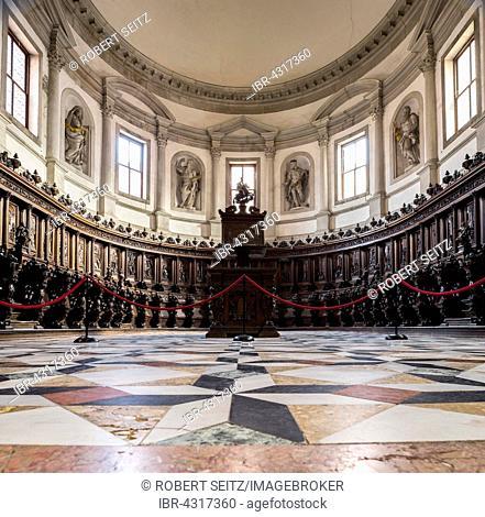 Choir, church of San Giorgio, San Giorgio Maggiore, Venice, Veneto, Italy