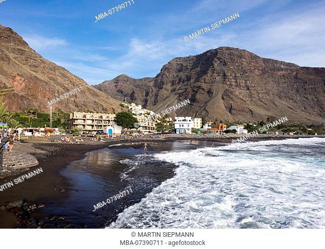 Beach in La Playa, Valle Gran Rey, La Gomera, Canary Islands, Canaries, Spain