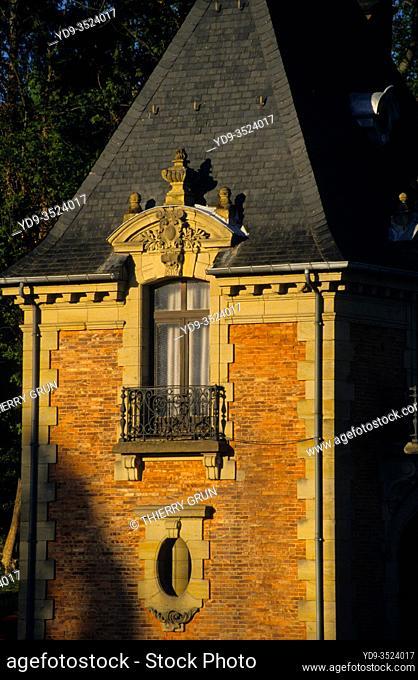 France, Moselle (57), Sarreguemines, Casino des faienceries, pavillon de Geiger