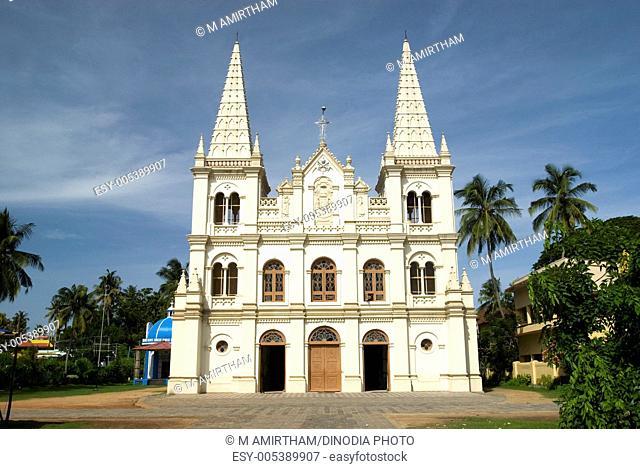 Santa Cruz basilica ; Kochi Cochin ; Kerala ; India gothic-style