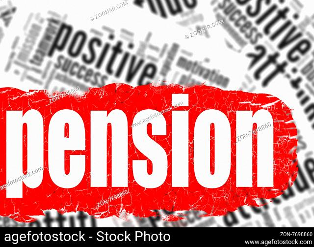 Word cloud pension image with hi-res rendered artwork that could be used for any graphic design