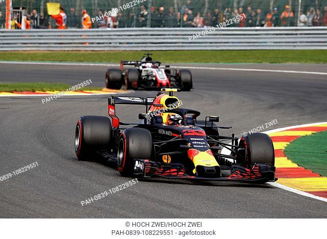Motorsports: FIA Formula One World Championship 2018, Grand Prix of Belgium, .#33 Max Verstappen (NLD, Aston Martin Red Bull Racing), 26.08.2018