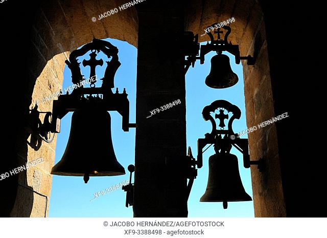 Bells of the cathedral of Santa Maria. Caceres. Extremadura. Spain