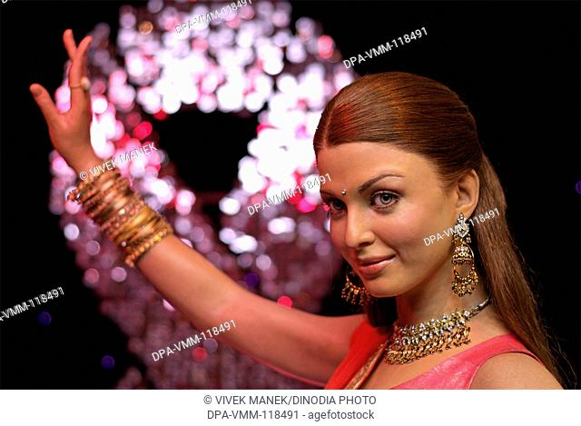 Model actress Aishwarya Rai wax statue at Madame Tussauds Wax Museum ; London ; U.K. United Kingdom England