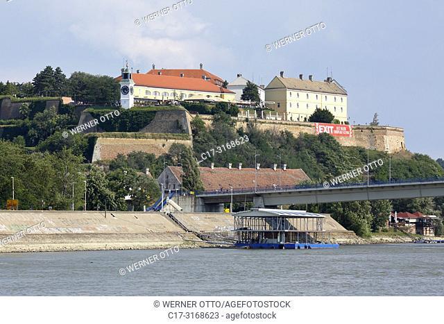 Novi Sad, Serbia, Novi Sad on the Danube, Province Vojvodina, District South Backa, Petrovaradin Fortress, Varadin Bridge, Danube bridge, Danube landscape