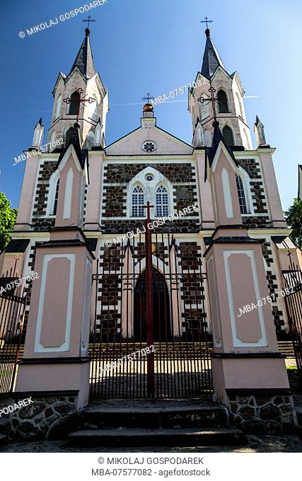 Europe, Poland, Podlaskie Voivodeship, Suvalkai Region, Punsk - church