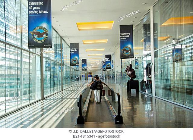 Toulouse Blagnac International Airport celebrating 40 years serving Airbus, Haute-Garonne, Midi-Pyrenees, France
