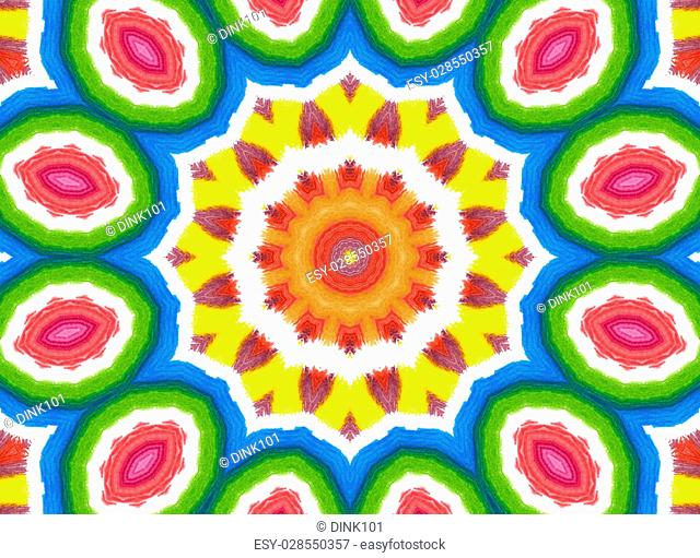 Bright background with abstract concentric color pattern