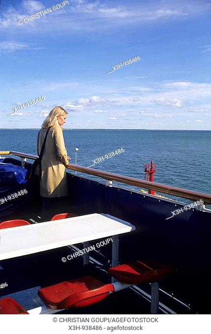 a bord du ferry pour Saaremaa,region de Saare,Estonie,pays balte,europe du nord