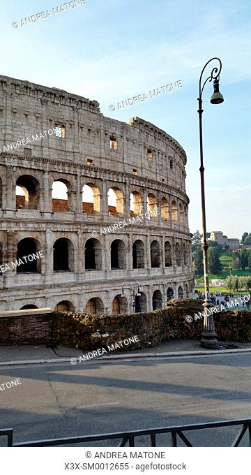 The Roman Colosseum. Rome, Italy
