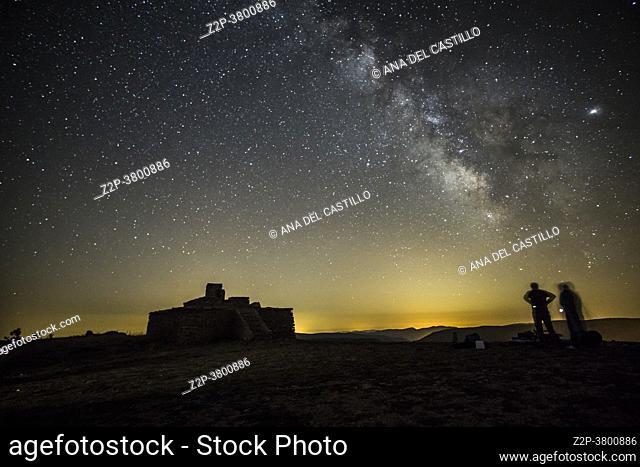 Milky way in Gudar mountains Teruel Aragon Spain