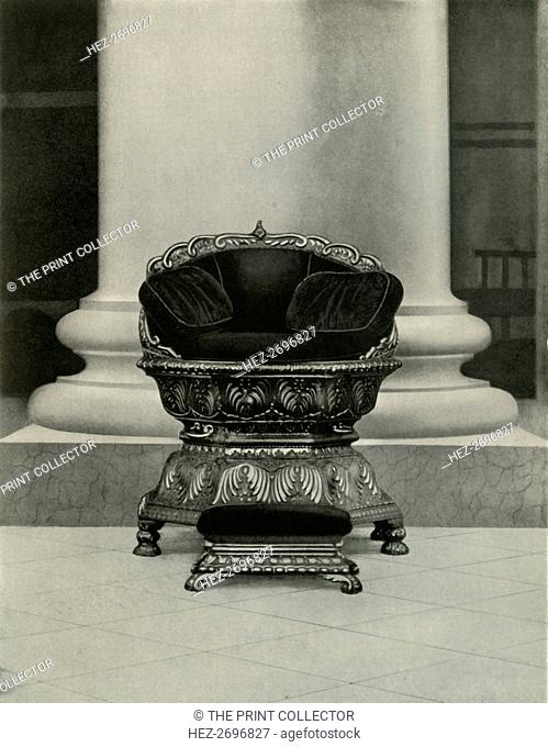 'State Seat of Tippu Sultan in Government House', 1925. Creator: Unknown