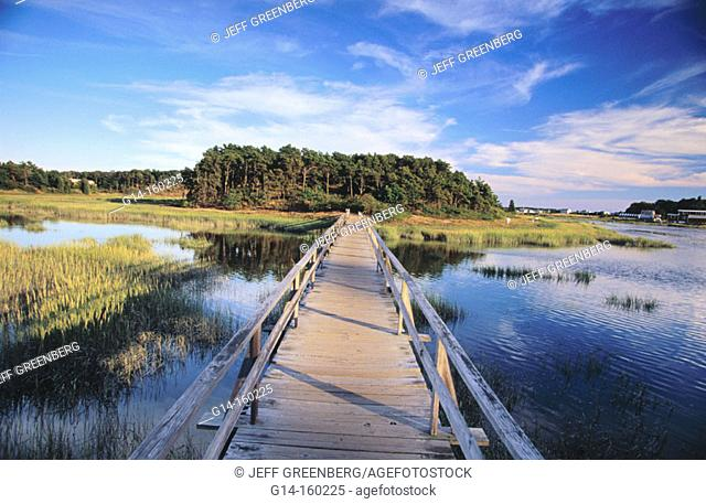Uncle Tim's Bridge. Wellfleet. Cape Cod. Massachusetts. USA