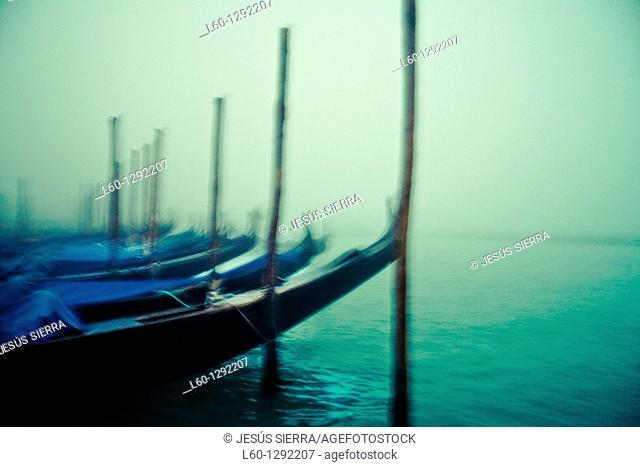 Romantic Gondolas, Venice, Italy