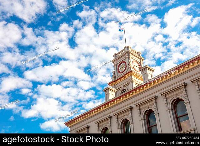 The iconic Castlemaine Post Office on a clear winter's morning in central Victoria, Australia