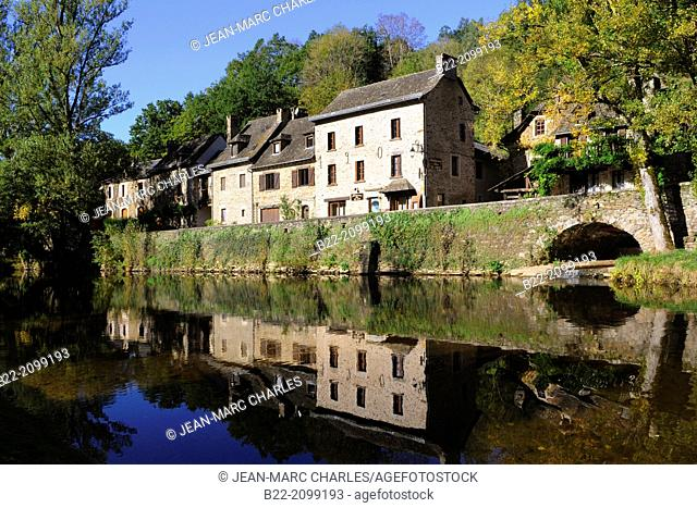 Belcastel, Aveyron, Midi-Pyrénées, one of the most beautiful village in France