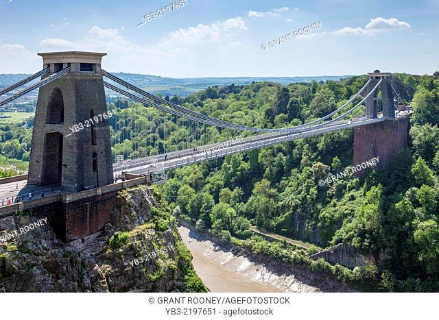 The Clifton Suspension Bridge, Bristol, Avon, England