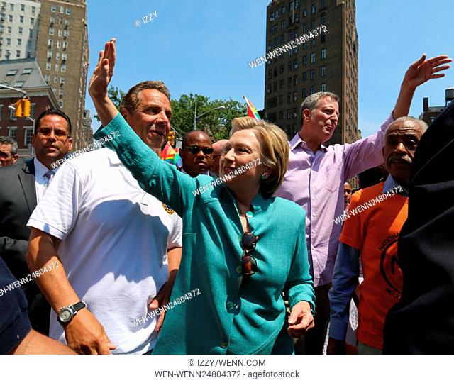 New York City Pride March 2016 Featuring: Andrew M. Cuomo, Hilary Clinton Where: New York City, New York, United States When: 26 Jun 2016 Credit: IZZY/WENN